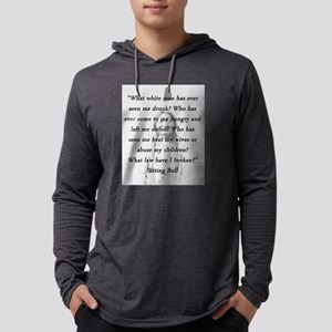 Sitting Bull - What Law Have I Broken Mens Hooded