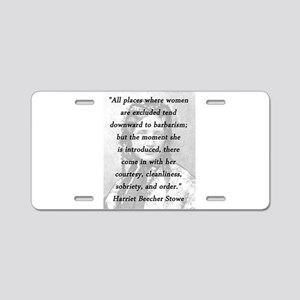 Stowe - All Places Aluminum License Plate
