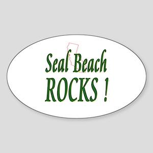 Seal Beach Rocks ! Oval Sticker