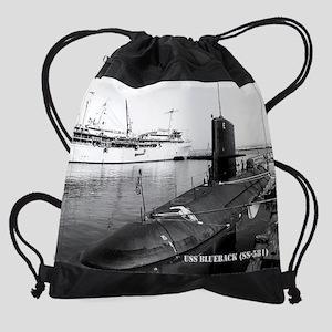 blueback calendar Drawstring Bag