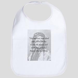 Stowe - Bitterest of Tears Cotton Baby Bib