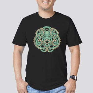 Octopus Emblem Men's Fitted T-Shirt (dark)