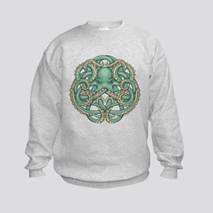 Octopus Emblem Kids Sweatshirt