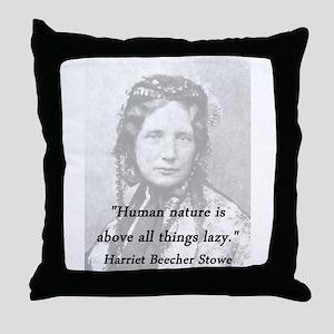 Stowe - Human Nature Throw Pillow