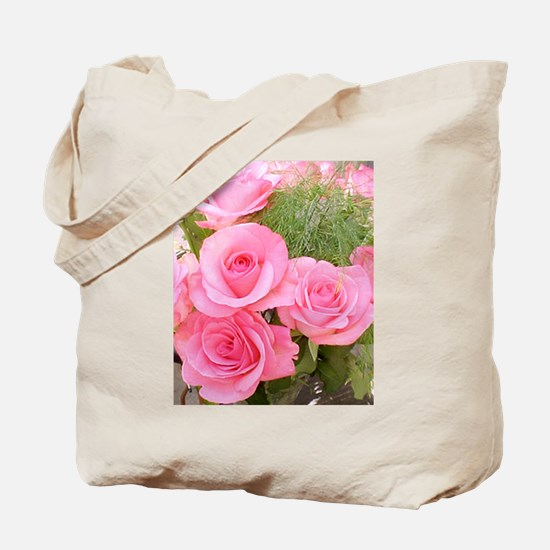 Pink Rose Bouquet Tote Bag