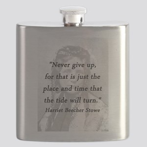 Stowe - Never Give Up Flask