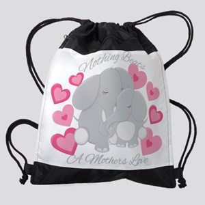 Elephant Love Drawstring Bag