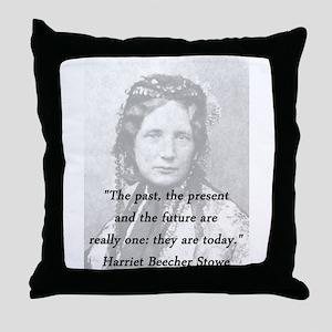 Stowe - Past Present Future Throw Pillow