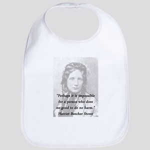 Stowe - Perhaps It Is Impossible Cotton Baby Bib