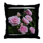 Think Pink Roses Throw Pillow