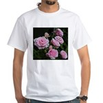 Think Pink Roses White T-Shirt