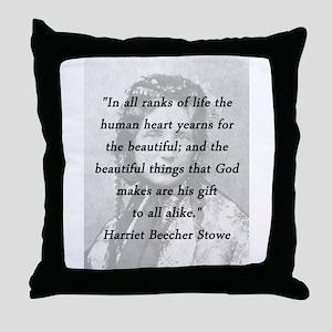 Stowe - Ranks of Life Throw Pillow