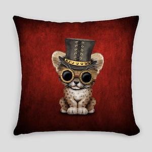 Cute Steampunk Baby Cheetah Cub Everyday Pillow