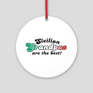 Sicilian Grandpas Ornament (Round)