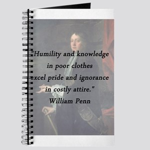 Penn - Humility and Knowledge Journal