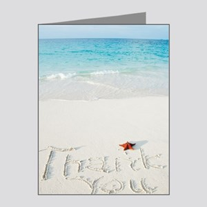 """Thank You"" writing on sand Note Cards (Pk of 20)"