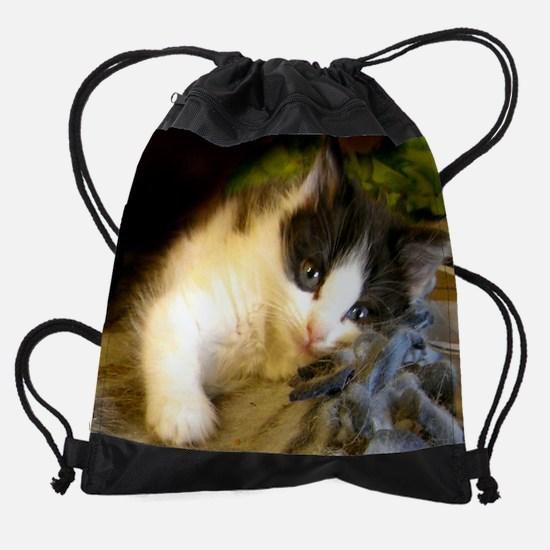 Calendar Cover Cuddly Cat Drawstring Bag