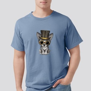 Cute Steampunk Baby Wolf Cub Mens Comfort Colors S