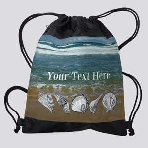 Customized Original Seashell Beach  Drawstring Bag