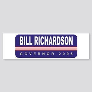 Support Bill Richardson Bumper Sticker