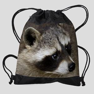 Raccoon 11.5x9_print Drawstring Bag