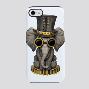 Cute Steampunk Baby Elephant Cub iPhone 7 Tough Ca