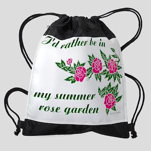 ratherBin-rose-garden-01 Drawstring Bag