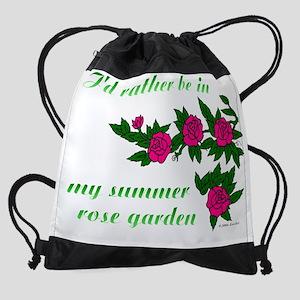 ratherBin-rose-garden-1A-TRANSP Drawstring Bag