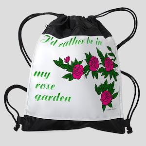 ratherBin-rose-garden-01A-TRANSP.pn Drawstring Bag