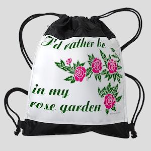 ratherBin-rose-garden-001C Drawstring Bag