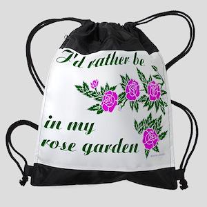 ratherBin-rose-garden-no-yellow Drawstring Bag