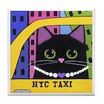 City Kitty Taxi Tile/Coaster
