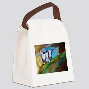 Cow! Bright, animal art! Canvas Lunch Bag