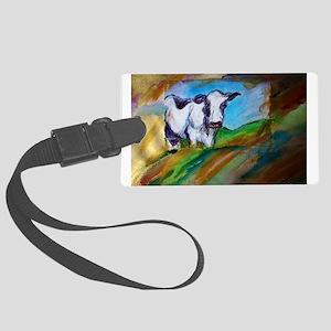 Cow! Bright, animal art! Luggage Tag