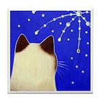 Siamese CAT & Fireworks Tile/Coaster