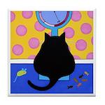 FAT Black CAT On Scale Tile/Coaster