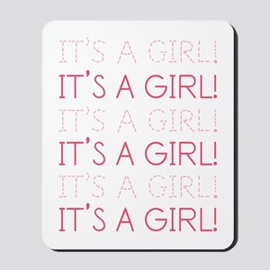 Pink It's a Girl Mousepad