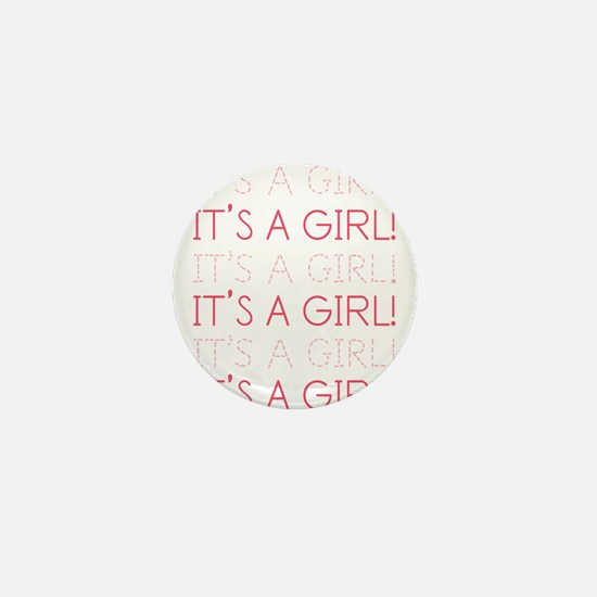 Pink It's a Girl Mini Button