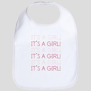 Pink It's a Girl Bib
