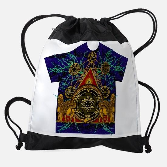 Solomons Magic Pentacle Shirt Drawstring Bag