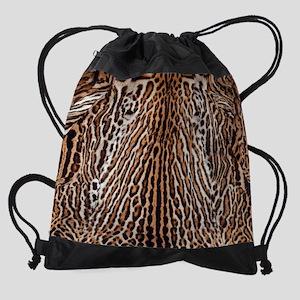 Tiger Skin Throw Blanket Drawstring Bag