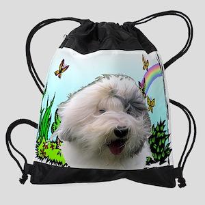rainbow_sheepdog Drawstring Bag