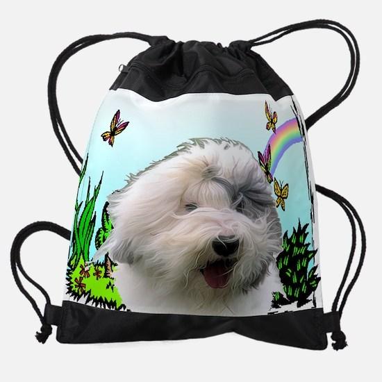 rainbow_sheepdog.jpg Drawstring Bag