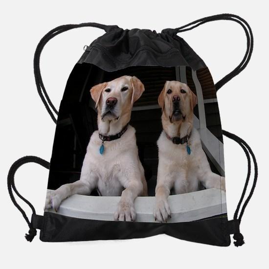 AugLabMonthCal.png Drawstring Bag