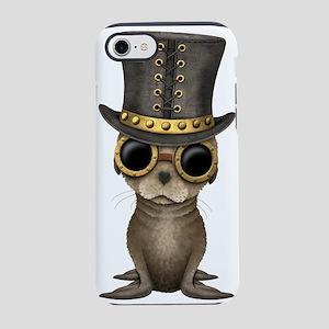 Cute Steampunk Baby Sea Lion iPhone 7 Tough Case
