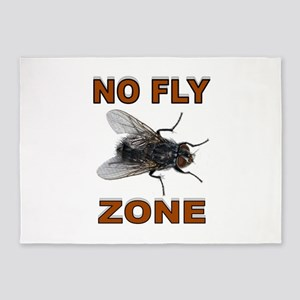 NO FLY ZONE 5'x7'Area Rug