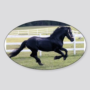 Baron Galloping Oval Sticker