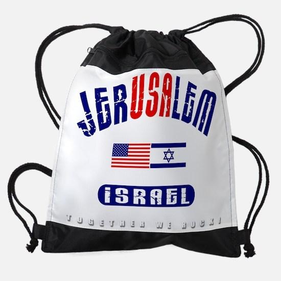 jerusalem - together we rock-2.png Drawstring Bag