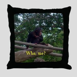 who me? Throw Pillow