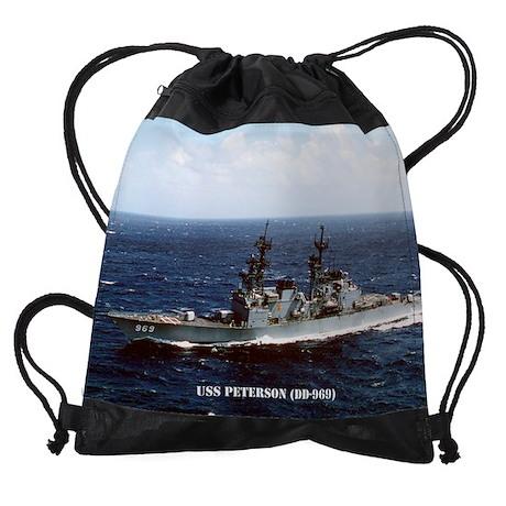 Sticker Military USN U S Navy USS PETERSON DD 969 Oval Decal